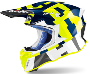 Casque Moto Cross Airoh Twist 2.0 Frame Bleu Aprilia beta Fantic Gasgas Honda
