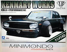 KIT NISSAN KENMARY WORKS 4 Dr 2015 VERSION LB PERFORMANCE 1/24 AOSHIMA 051276