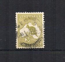 Australia 1915-27 3d olive-green Kangaroo FU CDS