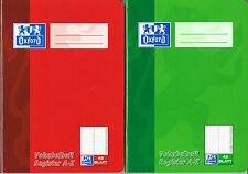 Oxford vocabolario quaderno con registri, DIN a5, 2-spaltig, 48 fogli