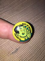 Vintage Archie Comics 1970 Reggie Keep on Groovin Button Pin Pinback