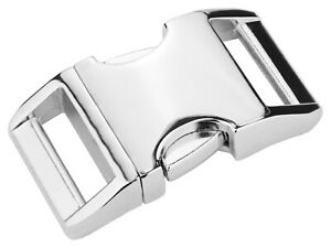 10 - 5/8 Inch Contoured Aluminum Side Release Buckles