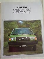 Volvo 343 range brochure 1978