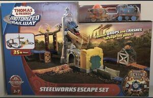 Thomas & Friends Steelworks Escape Set Motorized Rare 2018 FBK85 New Boxed 🇬🇧