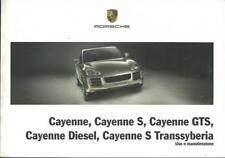PORSCHE CAYENNE 948 CAYENNE S GTS Diesel Transsyberia Uso e Manutenzione 2009 BA