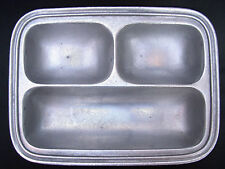 ⭐️ Vintage WILTON AREMETALE Pewter Divided Serving TRAY Snack Dish Platter ⭐️