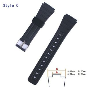 Black 12 14 16 18 20 22mm Silicone Watchband Waterproof divers Watch band strap