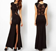 1pc Size L women lace prom sexy outfits cocktail party evening beach long dress
