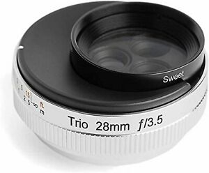 Lensbaby single focus lens Trio 28 28mm F3.5 Canon RF mount full size silver F/S