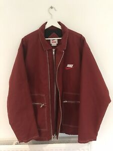 Nike X Supreme Quilted Work Jacket Burgundy XL