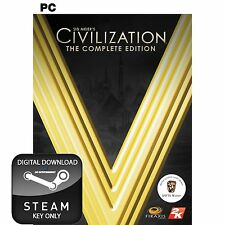 SID MEIER'S CIVILIZATION V 5 THE COMPLETE EDITION PC, MAC AND LINUX STEAM KEY