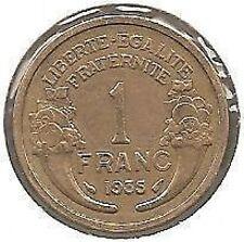 1 FRANC MORLON - 1935 - Pièce de Monnaie en TTB