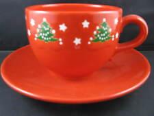 Jumbo Cup & Saucer Christmas Tree Waechtersbach German Stoneware