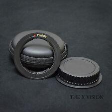 Black EMF AF Confirm Pentax K PK Lens to Canon EOS EF Brass adapter for 60D 5D