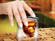 Built In Skull Head Shot Glass Fun Creative Designer Doomed Crystal Party 2.5 oz