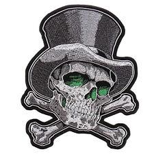 Top Hat Skull Cross Bones Jacket Vest MC Outlaw 4 inch Biker Patch
