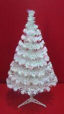 3ft White Christmas Xmas Tree with Pre-Lit fibre optic lights