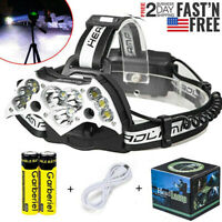 99000LM 11X T6 Rechargeable LED Headlamp Headlight 18650 Flashlight Head Torch