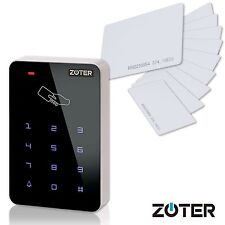 Door Home Access Control Reader Touch Keypad Backlit Key + 10 pcs RFID Cards Kit