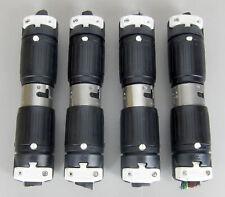 (4X) HUBBELL 3P 4W 250V 50A TWIST LOCK CONNECTOR pair CS8364C CS8365C
