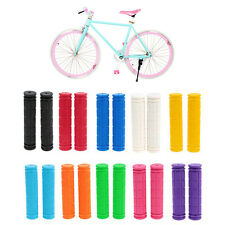 Fixed Gear Fixie Bike MTB Grid Pattern Cycling Handlebar Grip Rubber Cover Soft
