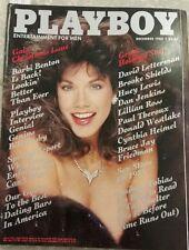 Playboy Magazine Dec. 1985 Carol Ficatier,Barbi Benton,Huey Lewis,