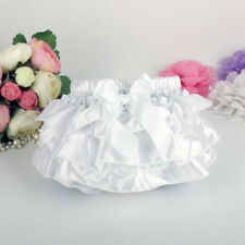 Baby Girls Ruffle Bowknot Satin Bloomers Briefs Diaper Nappy Cover Panties 3-24M
