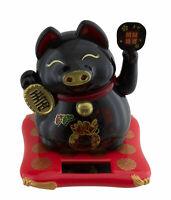 Cochon Negro de La Suerte 10cm Fortune Animación Solar Idem Gato Dinero 40711