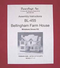 Dura-Craft  *BELLINGHAM Farm House* BL-455 Dollhouse Instructions