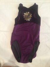 Gk elite Purple Gymnastics Dance Leotard Axs