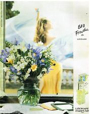 Publicité Advertising 1992 Eau de Toilette Eau fraiche de Leonard