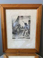 tableau gravure ancienne Empire Napoleon histoire de France grognards Bellangé