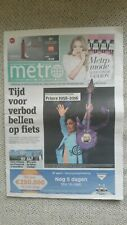 Newspaper Metro Holland Prince cover rare APRIL 2016