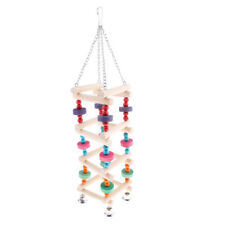 Bird Parrot Perch Platform Climb Ladder Toy Parakeet Cockatiel Wooden Toy