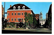 Trompe L'oeil Old Port Exchange Postcard Portland Maine Fake Building Facade