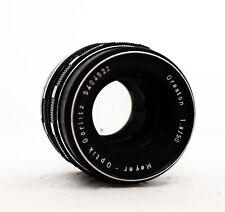 MEYER OPTIK GORLITZ ORESTON 50mm 1.8 focale fissa per EXAKTA EX SLR Fit difetti