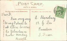 """A Stansbury, Princetown, Devon 1915 """"Kenneth"""" """"Yelverton on Easter Monday"""" AJ.39"""