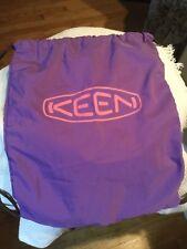 "Keen Dust Travel Bag Draw String beach bag hybrid.think purple 16""x13"""