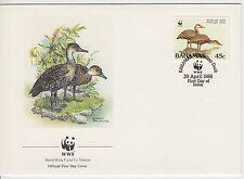 LETTRE  PREMIER JOUR WWF BAHAMAS CANARD