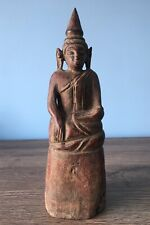 More details for antique wooden buddha from jinghong china, sipsongpanna, rare buddhist statue
