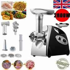 New 2800W Electric Meat Grinder Stainless Steel Mincer Sausage Maker Home Black