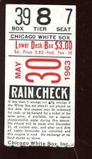 May 30 1963 Chicago White Sox Baseball Ticket Stub Mike Joyce Verso