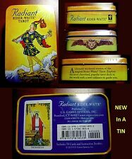 New in a TIN Radiant Rider Waite Tarot Deck Cards 45pg guide Pamela Smith mystic