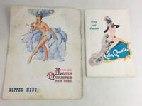 Latin Quarter Night Club NYC Laminated Dinner Menu & Liquor Menu 1940's-1970's