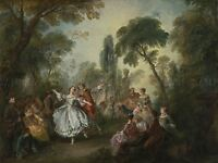 NICOLAS LANCRET FRENCH LA CAMARGO DANCING OLD ART PAINTING POSTER BB6200A
