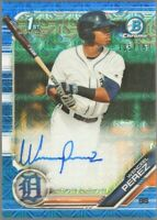 2019 Bowman Chrome Prospects Blue Refractor /150 Wenceel Perez #CPA-WP Auto