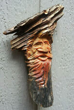 Wood Spirits Carving Folklore History Enchanted Forest Rustic Vintage Fairy Elf