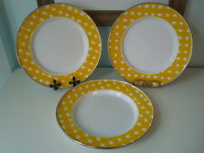 POTTERY BARN PARTY WARE Yellow & White Buffalo Check Plaid Enamel Plate/Charger