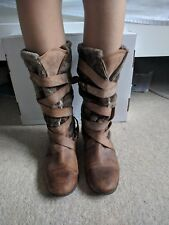 Faith, womens boots, leather/fur, size 40/UK6