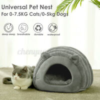 Cozy Pet Dog Cat Nest Bed Kennel Puppy Cave Sleeping House Mat Pad Winter Warm